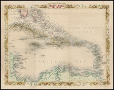 Caribbean Map By John Rapkin