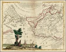 World, Rocky Mountains, Alaska, Pacific and California Map By Antonio Zatta