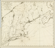 New England and Canada Map By Odet-Julien Le Boucher