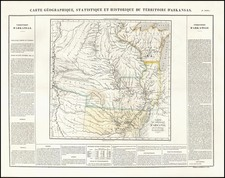 Texas, Midwest, Plains, Southwest and Rocky Mountains Map By Jean Alexandre Buchon