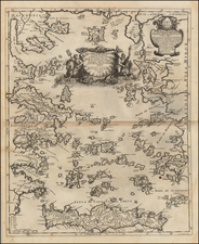 Greece and Balearic Islands Map By Giacomo Giovanni Rossi - Giacomo Cantelli da Vignola