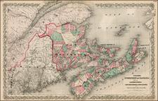 Canada Map By Joseph Hutchins Colton