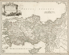 Turkey and Turkey & Asia Minor Map By Didier Robert de Vaugondy