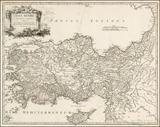 Turkey and Turkey & Asia Minor Map By Didier Robert de Vaugondy