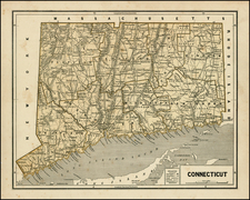 New England and Connecticut Map By Sidney Morse  &  Samuel Breese