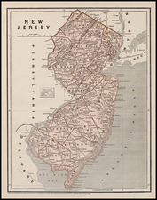 Mid-Atlantic Map By Sidney Morse  &  Samuel Breese