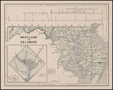 Mid-Atlantic and Southeast Map By Sidney Morse  &  Samuel Breese