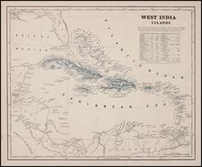 Caribbean Map By Sidney Morse  &  Samuel Breese
