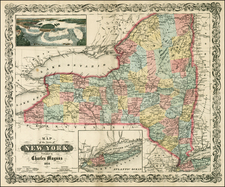 New York State Map By Charles Magnus