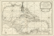 South, Southeast, Texas and Caribbean Map By Depot de la Marine