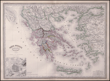 Europe, Greece and Balearic Islands Map By Adolphe Hippolyte Dufour