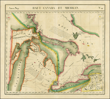 Midwest and Canada Map By Philippe Marie Vandermaelen