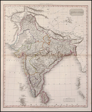 Asia and India Map By John Pinkerton