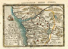 Africa and North Africa Map By Petrus Bertius