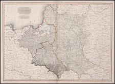 Europe and Poland Map By John Pinkerton