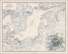 Europe, Russia, Baltic Countries and Scandinavia Map By W. & A.K. Johnston