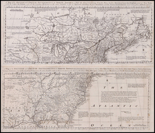 United States, New England, Mid-Atlantic, South, Southeast, Texas, Midwest, Plains, Southwest, North America and Canada Map By Thomas Bowen
