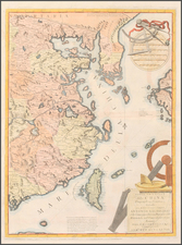 Asia, China and Korea Map By Vincenzo Maria Coronelli