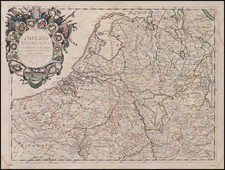 Europe, Netherlands and Germany Map By Paolo Petrini