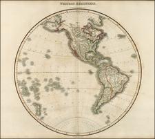 World, Western Hemisphere, South America, Pacific and America Map By John Pinkerton