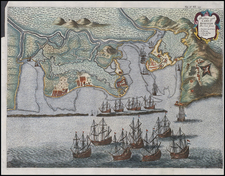 South America Map By Jan Jansson / I. Commelyn