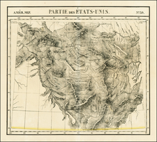 Rocky Mountains Map By Philippe Marie Vandermaelen