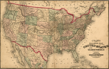 United States Map By George F. Cram