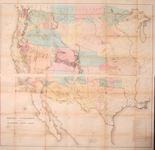 United States, Plains, Southwest, Rocky Mountains and California Map By G.K. Warren