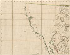 Texas, Southwest, Rocky Mountains, Mexico, Baja California and California Map By Aaron Arrowsmith