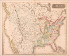 United States and Canada Map By John Thomson