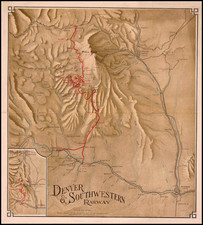 Southwest and Rocky Mountains Map By Rand McNally & Company