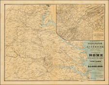 Southeast and Virginia Map By D.A. Heald
