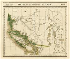 Canada Map By Philippe Marie Vandermaelen