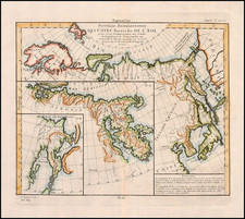 World, Polar Maps, Asia, China, Japan and Russia in Asia Map By Denis Diderot / Didier Robert de Vaugondy