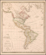 World, Western Hemisphere, South America and America Map By Johann Walch