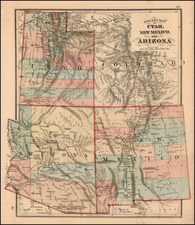 Southwest and Rocky Mountains Map By H.H. Lloyd / Warner & Beers