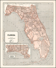 Florida Map By Sidney Morse  &  Samuel Breese