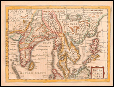 Asia, China, India, Southeast Asia and Philippines Map By  Gerard Mercator