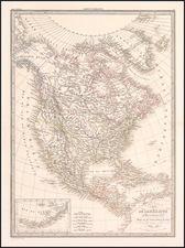 Texas and North America Map By Alexandre Emile Lapie