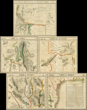 Texas, Southwest and Rocky Mountains Map By Philippe Marie Vandermaelen