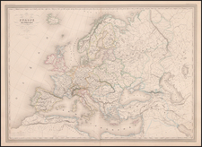 Europe and Europe Map By Adolphe Hippolyte Dufour