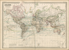 World and World Map By Adolphe Hippolyte Dufour