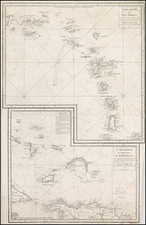 Caribbean Map By Depot de la Marine