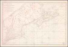 New England and Canada Map By Antoine Sartine
