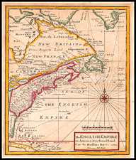 United States, New England, Mid-Atlantic, Southeast and Canada Map By Herman Moll
