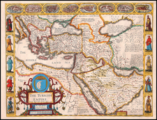 Europe, Turkey, Mediterranean, Asia, Middle East and Turkey & Asia Minor Map By John Speed