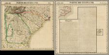 Southeast Map By Philippe Marie Vandermaelen