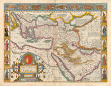 Europe, Russia, Ukraine, Turkey, Mediterranean, Asia, Middle East and Turkey & Asia Minor Map By John Speed