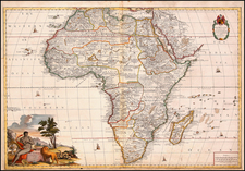 Africa and Africa Map By John Senex / Charles Price