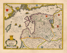 Europe, Poland, Russia, Baltic Countries and Scandinavia Map By Willem Janszoon Blaeu